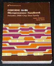 1979 Osborne 16-bit CPU Databook TMS9900 PACE Intel 8086 MC68000 AMD 2900 Z8000