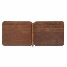 Portefeuille avec pince à billets en cuir pour homme