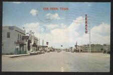 POSTCARD VAN HORN TX/TEXAS COMMERCIAL AREA BUSINESS STORE FRONT 1960'S