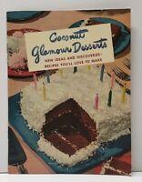 Vintage 1949 Baker's Coconut Glamour Desserts Recipe Booklet General Foods