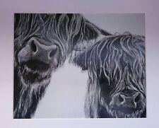 """The Management"" highland cow art print by Aaron de la Haye"