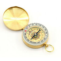 Noctilucent Hiking Camping Compass Tool Pocket Watch Style for Outdoor Brass SUN