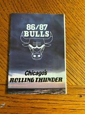1986-87 Chicago Bulls Pocket Schedule/ Chicagos Rolling Thunder