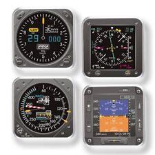 Trintec Modern Aircraft Instrument Square Coaster Set - 4-Piece Acrylic - 9099