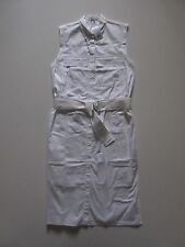 NWT Helmut Lang Optic White Washed Bellow Poplin Cotton Shirt Dress 6 $495