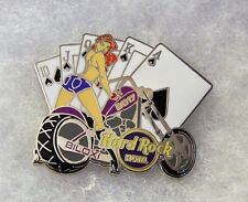HARD ROCK HOTEL BILOXI SEXY GIRL SPADES ROYAL FLUSH ON MOTORCYCLE PIN # 93424
