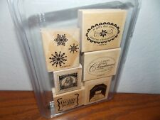 Stampin Up Christmas Punch Snowflake Snowman Season 6 Wood Mount Stamps L0618