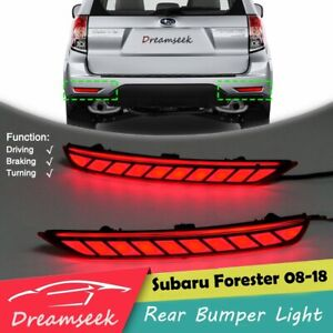 LED Rear Bumper Tail Light for Subaru Forester 2008-2018 Stop Brake Turning Lamp