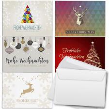 30 Weihnachtskarten (5x6) im Set Umschlag Set Grußkarten Weihnachten Mix 3