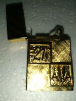 14k gold Plated Vintage Slim Lighter USA American airlines