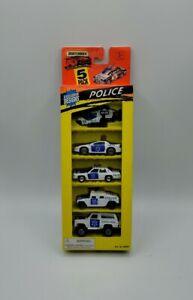 Vintage 1995 Matchbox Police Vehicles 5 Pack Exclusive Designs Excellent