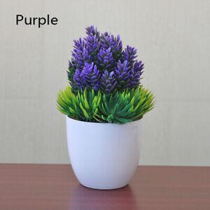 Artificial Plant Fake Potted Mini Topiary Bonsai Desk Ornament Home Office Decor