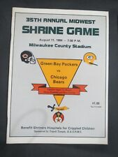 1984 Shrine Green Bay Packers VS Chicago Bears Football Program walter payton
