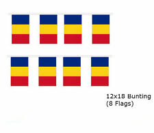 Romania Romanian 12x18 Rough Tex Knitted Bunting String Flag Banner (8 Flags)