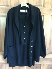 Evan-Picone Long Sleeve Cardigan Sweater,Vest,Skirt Set Lambswool/ Angora M Euc