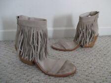 Sol Sana Fringe Suede Sandal Shoes Size 39