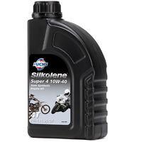 Silkolene Super 4 10W-40 4-Stroke 4T 10W40 Motorcycle Oil 2 x 1 Litre 2L