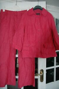 Principles linen red trousers suit ( jacket and trousers)  size 16