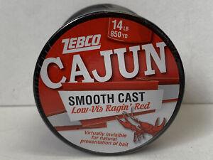 ZEBCO Cajun Low Vis Ragin' Red 14 lb 850 YD Spool CLLOWVISQ14C