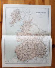 19th Century Engraving Map Of Lancashire   James S Virtue