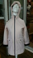 PULL & BEAR Fashion Jacket Fleece Lined Hooded Raincoat - Pale Baby Pink - Small