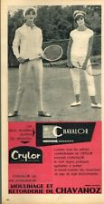 T - Publicité Advertising 1962 Vetements de sport Tennis Chavalor Chavanoz
