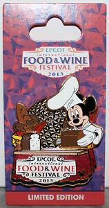 2013 EPCOT INTERNATIONAL FOOD & WINE FESTIVAL LE 4000 PIN ~CHEF MICKEY BREADS~