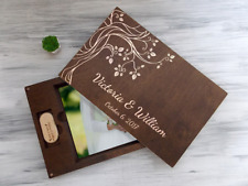 Wedding Photo Box Valentines Gift for Couple Anniversary Gift Wooden Photo Box