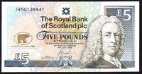 2005 ROYAL BANK OF SCOTLAND PLC £5 BANKNOTE * JWN  01389-- * UNC * (1)