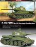 Academy #13290 1/35 Plastic Model Kit T-34/85 Tank No.122 Factory Production NIB