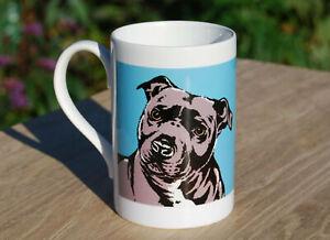Staffordshire Bull Terrier porcelain single mug