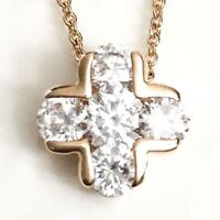 """4 Ct Round Diamond Halo Pendant Necklace 14K Yellow Gold Plated 18"""""""