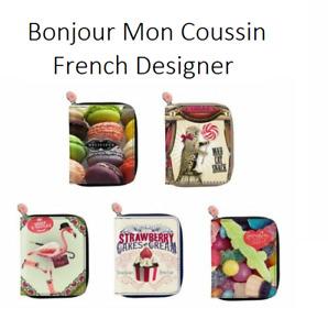 Bonjour Mon Coussin Boutique Zip Wallet Clutch NEW You Choose French Designer