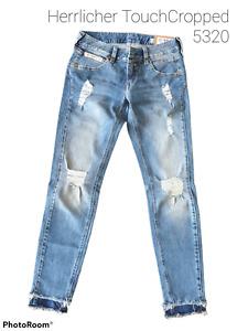 Herrlicher Damen Jeans Touch Crop+5320D9661+PoleBlue+Destroy+Neuware