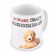 Beware Crazy GOLDEN DOODLE DOG LADY Funny Novelty Gift Mug