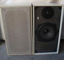 Schwere Grundig 506 2-Wege Hifi Lautsprecherboxen weiß mit Kabelsatz
