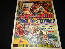 johnny weismuller tarzan , jungle jim  lot 12 rare affiches annees 40.50 .60