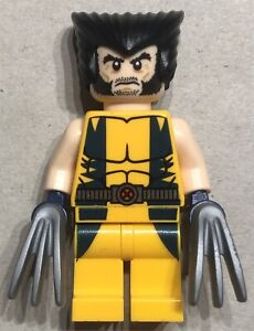 Genuine Lego Marvel Comics Superheroes X-Men sh017 Wolverine 2012 Minifigure
