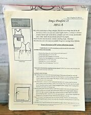 Smocking Horse Sewing Pattern AMY'S PINAFORE II Adult Sizes 6 - 24 UNCUT AP12-A