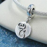 Authentic 100% 925 Sterling Silver Dazzling Stethoscope Dangle Charm Clear CZ