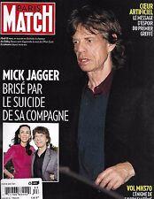 Paris Match magazine Mick Jagger Lwren Scott George and Amal Clooney Claude Dany