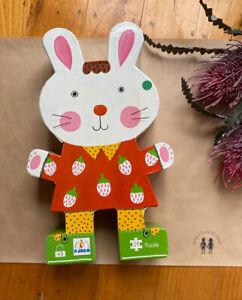 Djeco Kids 24 piece bunny puzzle - 'Mummy's Rabbit's Pie' 3+ years, VGUC