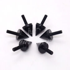 Motorcycle Black Aluminum Spike Bolts For Windscreen Fairings License Plate Bolt