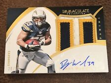 2015 PANINI IMMACULATE COLLECTION DANNY WOODHEAD GW PATCH AUTO 28/99 CHARGERS