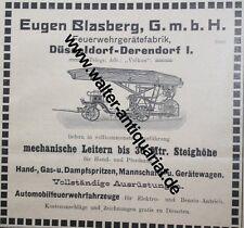 Feuerwehr-Geräte E.Blasberg Düsseldorf-Derendorf Werbeanzeige von 1909 Werbung