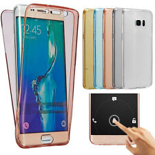 2 in1 combo front back screen touch clear case galaxy s6 s6 edge s6 edge+ cover