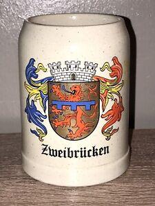GERZ /  Zweibrucken Crest / German / BEER Mug / Stoneware .5 L