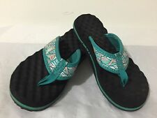 The North Face Sandals Flip Flops Thongs Aqua & Pink Size Size 4