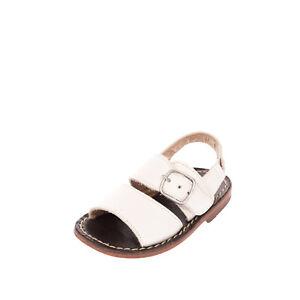 EUREKA Leather Slingback Sandals EU 18 UK 2 US 3 Buckle Open Toe Made in Italy