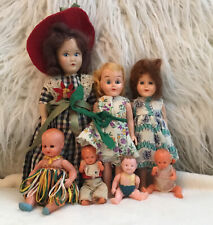 Lot of 7 Small Antique/Vintage Dolls Plastic/Celluloid mixed sizes